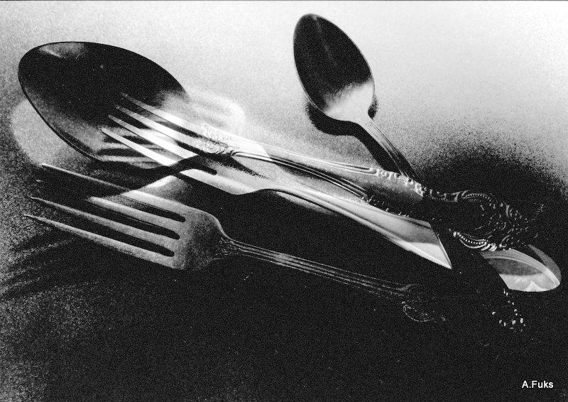Фото натюрморта - Вилки-ложки