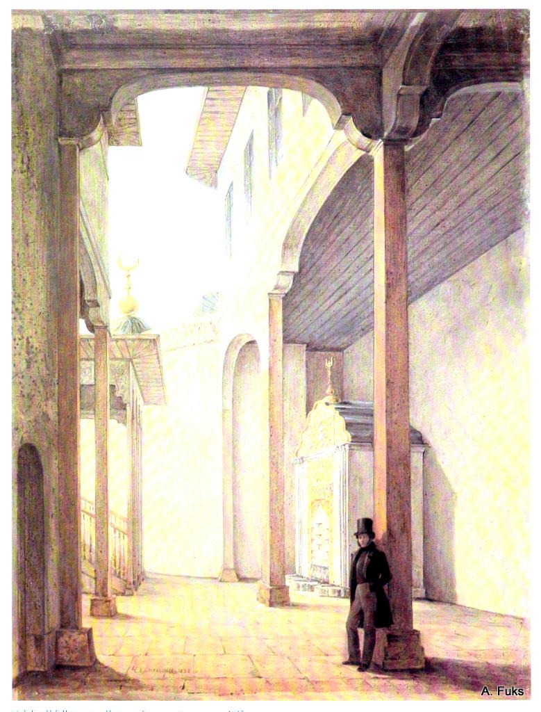 Пушкин в Бахчисарайском дворце