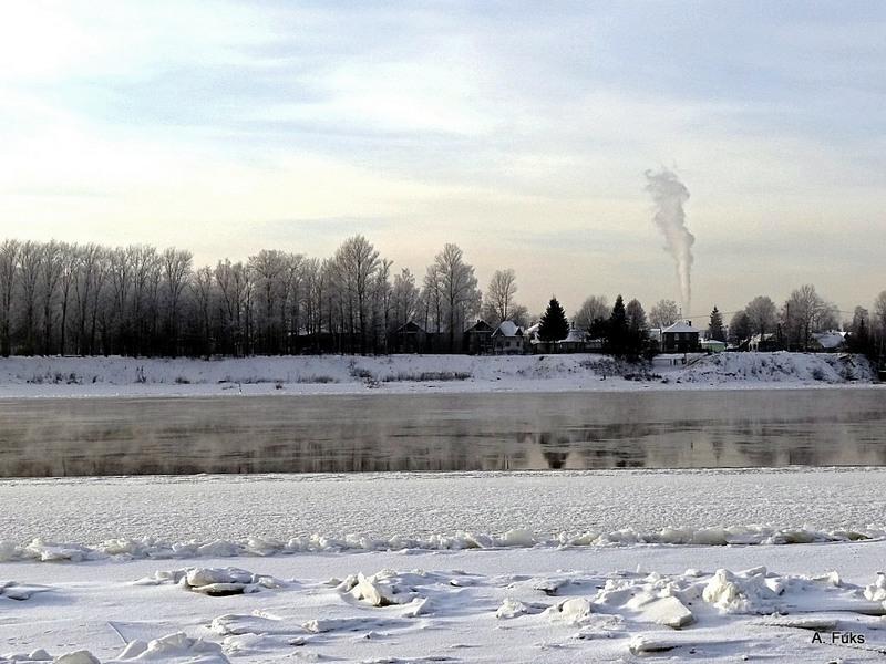 Дубровка, зима