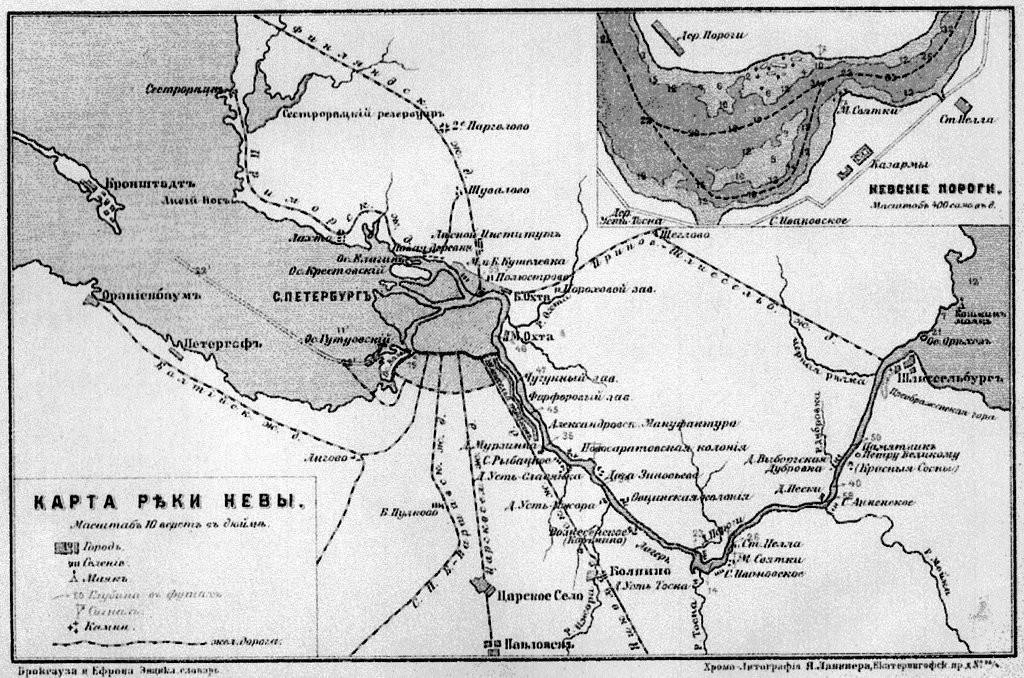 Карта Невы